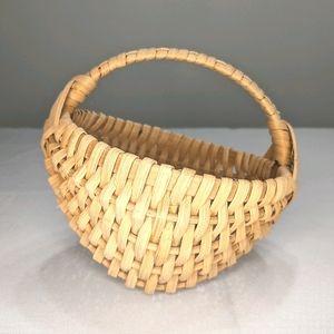 Vintage 1980s Handmade Hand Signed Basket